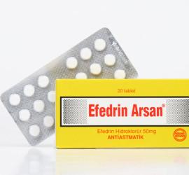 Efedrin Arsan 50mg Ephedrin HCL Tabletten